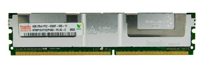 Memory RAM 1x 4GB Hynix ECC FULLY BUFFERED DDR2 667MHz PC2-5300 FBDIMM | HYMP151F72CP4N3-Y5
