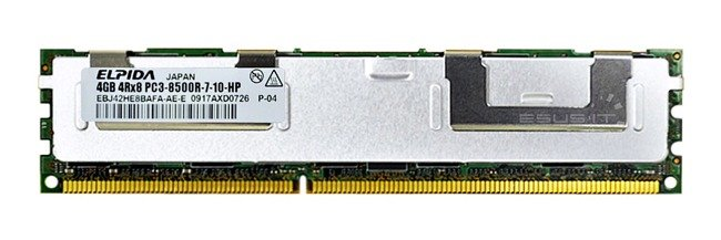 Memory RAM 1x 8GB Micron ECC REGISTERED DDR3  1333MHz PC3-10600 RDIMM | MT36KSF1G72PZ-1G4