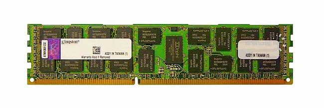 Memory RAM 2x 2GB Kingston ECC REGISTERED DDR3  1333MHz PC3-10600 RDIMM | KVR1333D3S4R9SK2/4GI